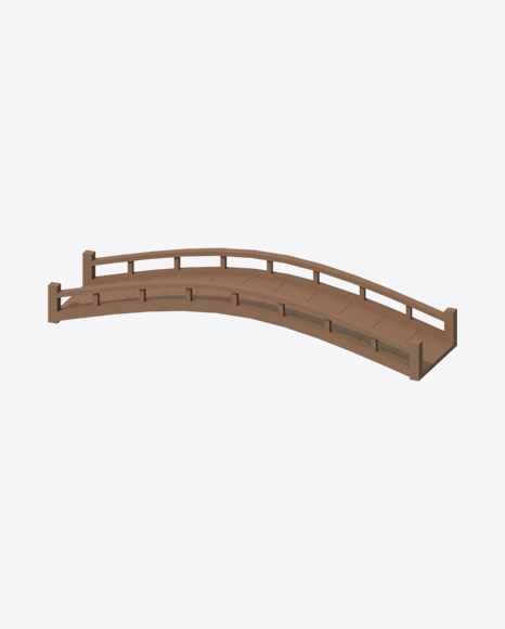 Low Poly Wooden Bridge