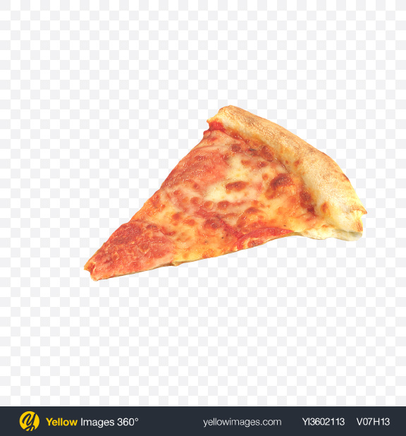 Download Pizza Slice Transparent PNG on Yellow Images 360°