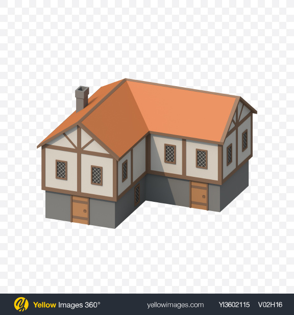Download Low Poly House Transparent PNG on YELLOW Images