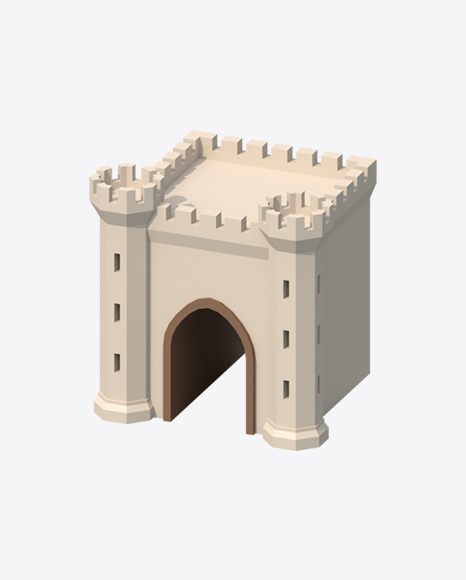 Low Poly Castle Gate