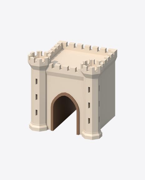 Low Poly Castle Gate