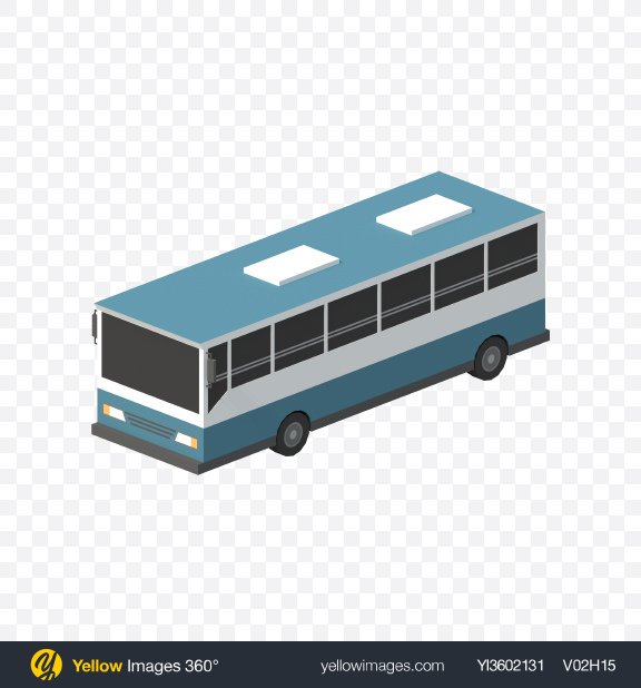Download Low Poly City Bus Transparent PNG on Yellow Images 360°