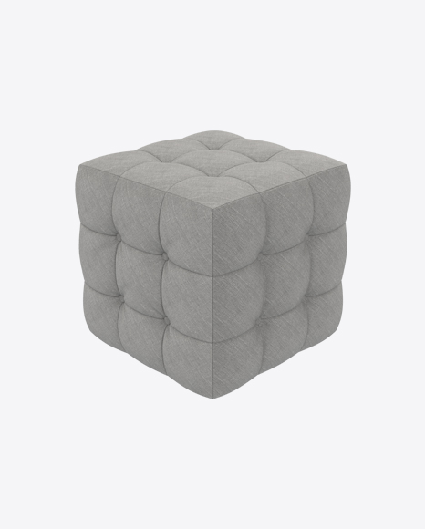 Gray Fabric Pouf