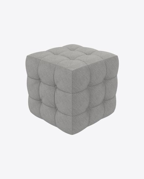 Gray Fabric Pouf