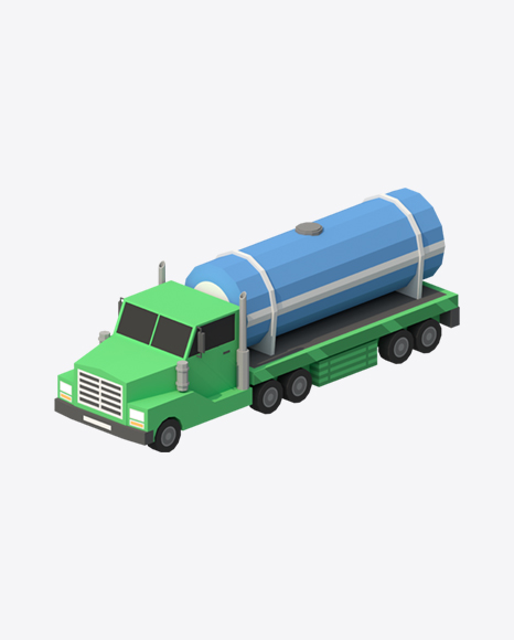 Low Poly Tanker Truck