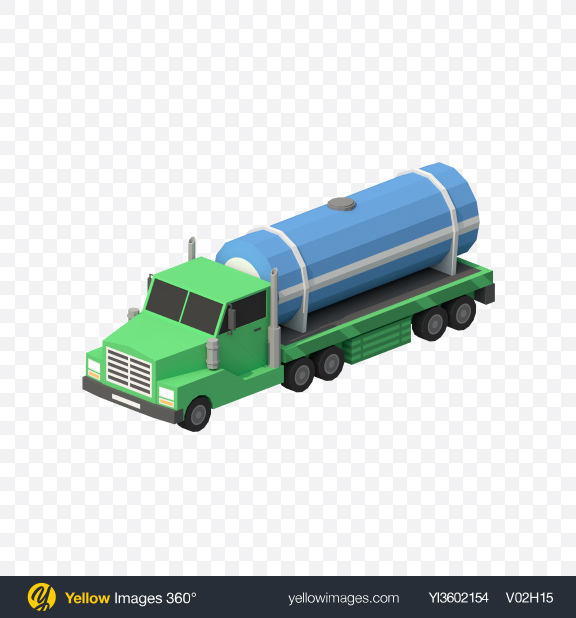 Download Low Poly Tanker Truck Transparent PNG on PNG Images