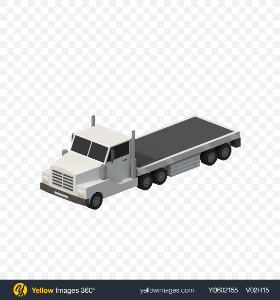 Download Low Poly Truck Transparent PNG on Yellow Images 360°