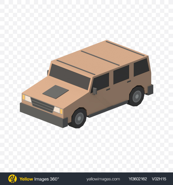 Download Low Poly SUV Transparent PNG on Yellow Images 360°