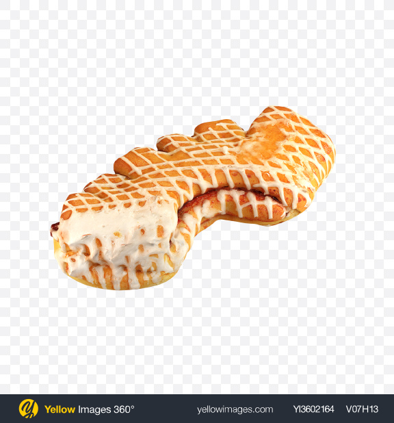 Download Baked Roll with Jam Transparent PNG on Yellow Images 360°