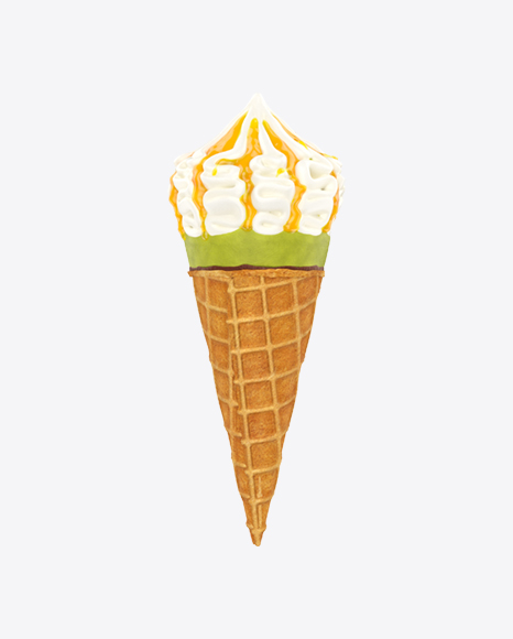 Ice Cream Cone with Topping