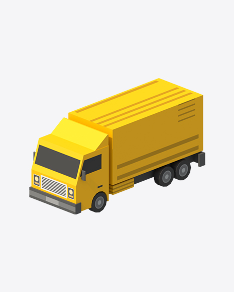 Low Poly Cargo Truck