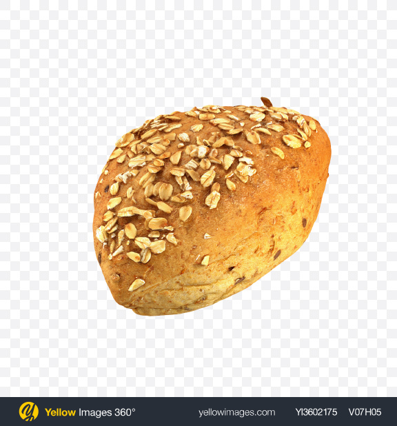 Download Wholegrain Bun Transparent PNG on Yellow Images 360°