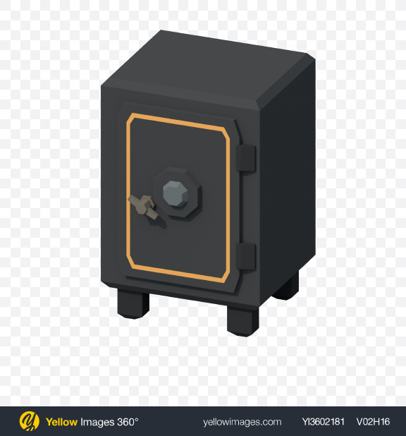 Download Low Poly Old Safe Transparent PNG on PNG Images