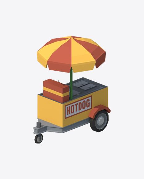 Low Poly Food Cart