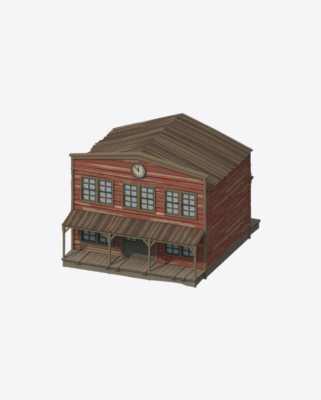 Low Poly Western House