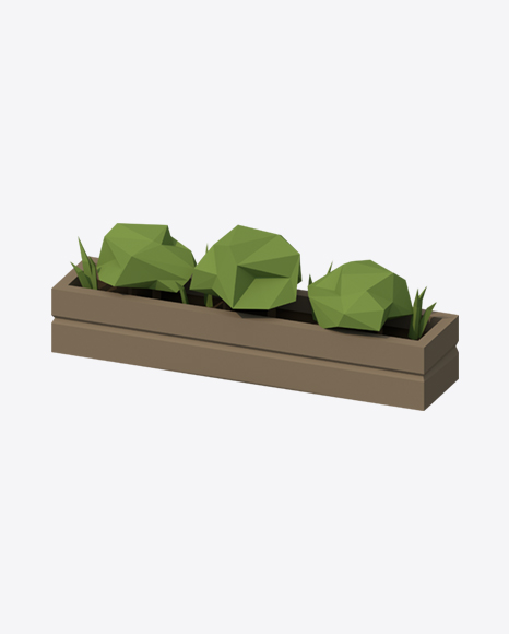 Low Poly Plants Pot