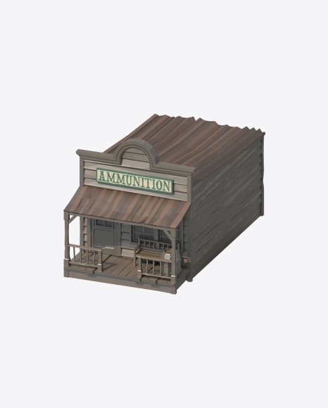 Low Poly Ammunition Store
