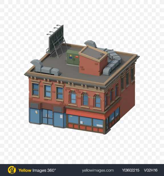 Download Low Poly Building Transparent PNG on YELLOW Images