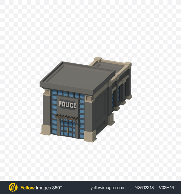 Download Low Poly Police Department Transparent PNG on Yellow Images 360°