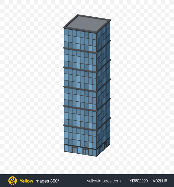 Download Low Poly Skyscraper Transparent PNG on YELLOW Images