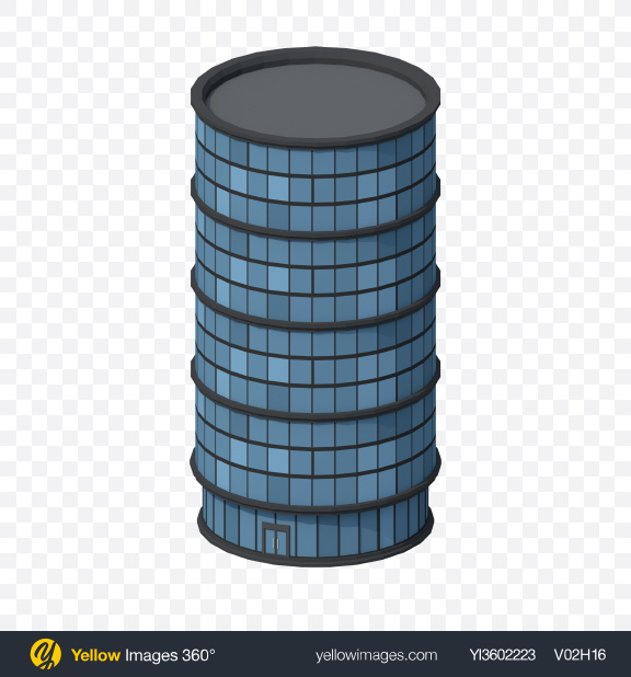 Download Low Poly Skyscraper Transparent PNG on Yellow Images 360°