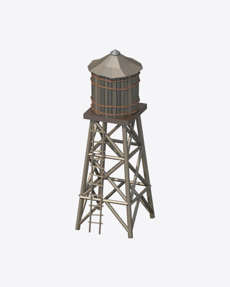 Low Poly Water Tower