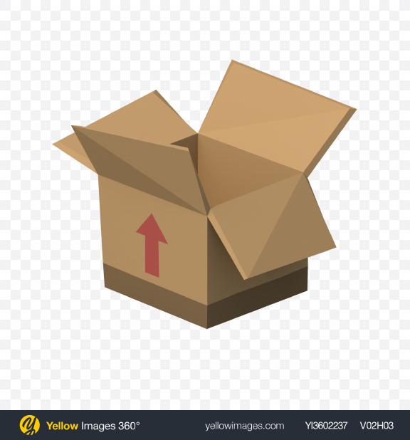 Download Low Poly Cardboard Box Transparent PNG on YELLOW Images