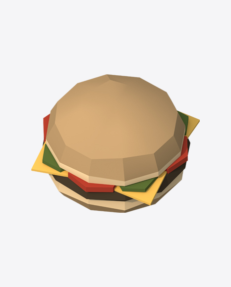 Low Poly Burger