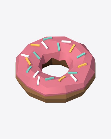 Low Poly Donut