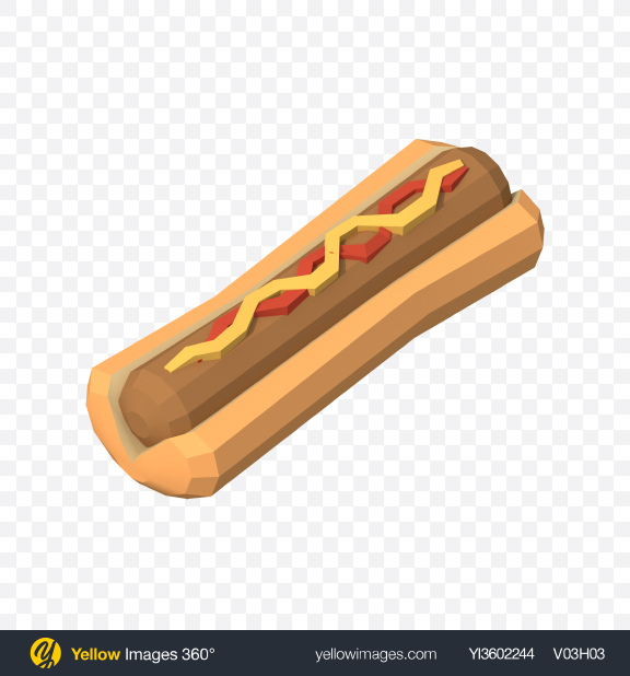 Download Low Poly Hot Dog Transparent PNG on PNG Images
