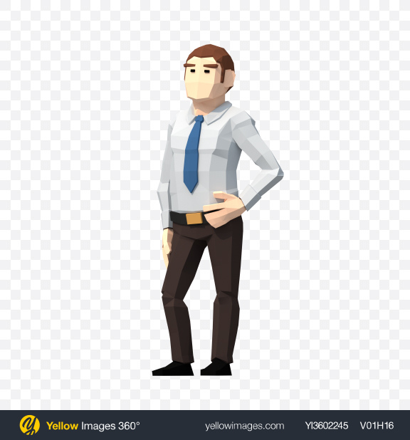 Download Low Poly Office Worker Transparent PNG on PNG Images