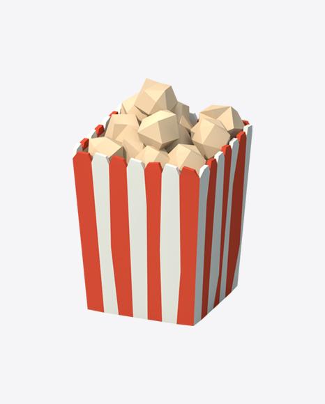 Low Poly Popcorn