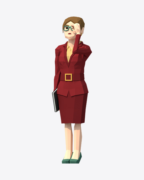 Low Poly Business Woman
