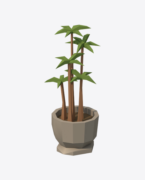 Low Poly Potted Plant