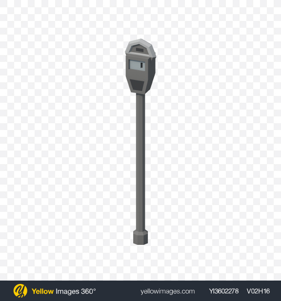 Download Low Poly Parking Meter Transparent PNG on Yellow Images 360°