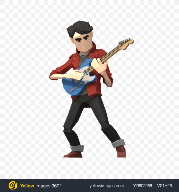 Download Low Poly Guitarist Transparent PNG on PNG Images