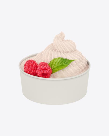 Raspberry Ice Cream Cup