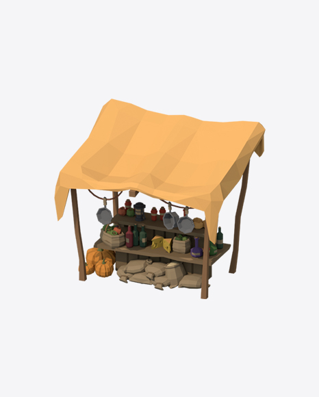 Low Poly Market Stall