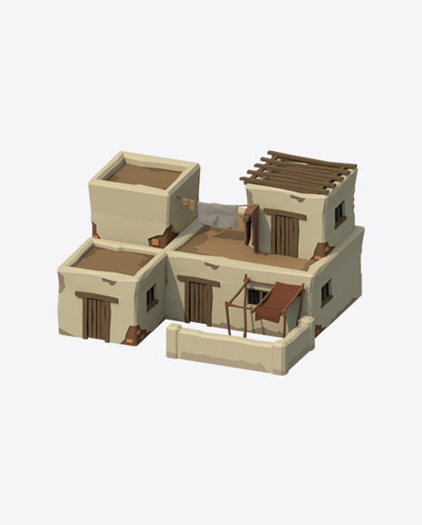 Low Poly Ancient House