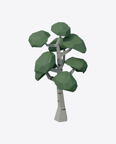 Low Poly Birch Tree