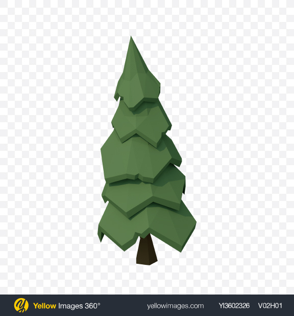 Download Low Poly Fir Transparent PNG on YELLOW Images