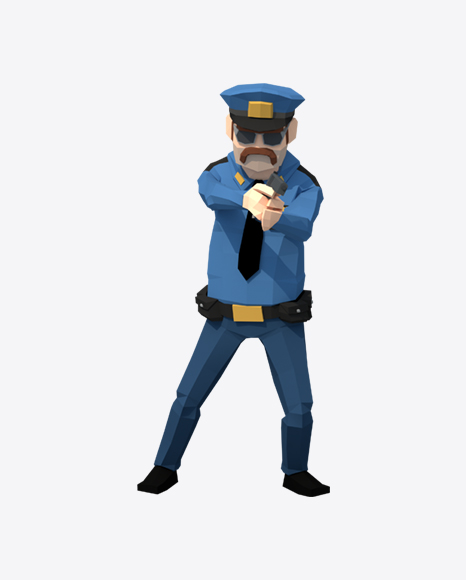 Low Poly Police Man