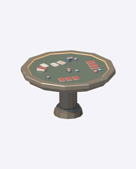 Low Poly Poker Table