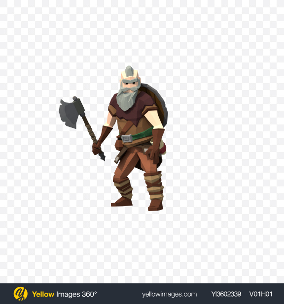 Download Low Poly Viking Transparent PNG on Yellow Images 360°