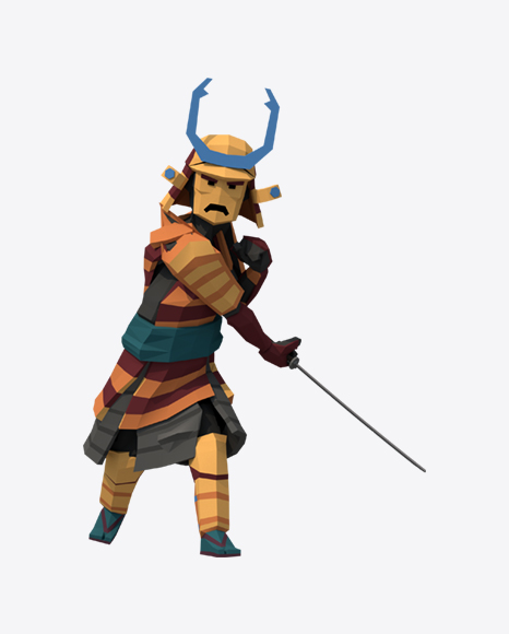 Low Poly Samurai Grunt