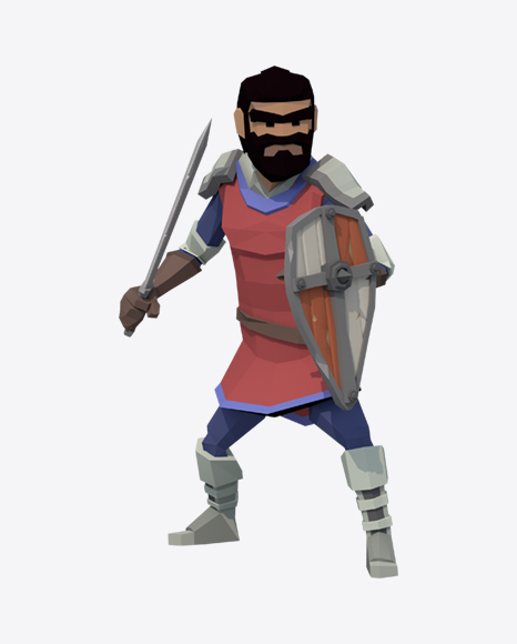 Low Poly Knight Guard