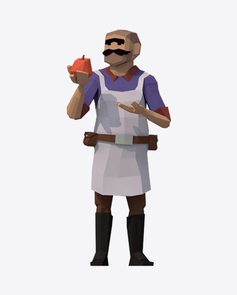 Low Poly Shopkeeper