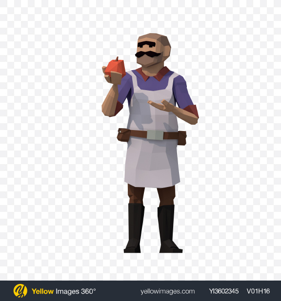 Download Low Poly Shopkeeper Transparent PNG on YELLOW Images