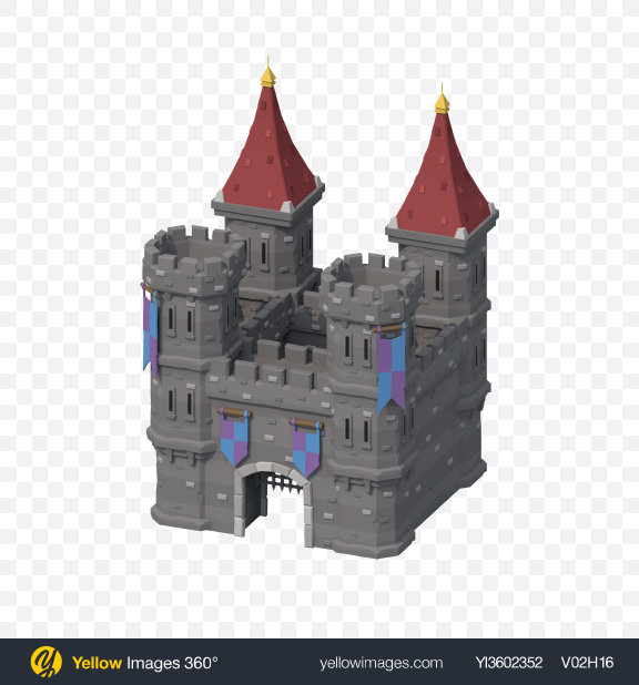 Download Low Poly Castle Transparent PNG on Yellow Images 360°