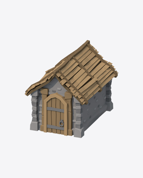 Low Poly Shed